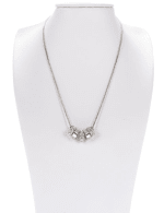 Ring Charm Drop Necklace - Silver - Back