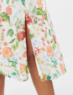 Surplice Floral Midi Dress - Misses - Ivory - Detail