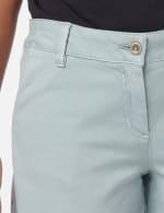 Fly Front Slash Pocket Short with Fray Hem - Aqua Mint - Detail
