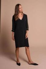 Heather Dress - Black  - Front