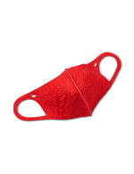 Jacquard Scroll Anti-Bacterial Fashion Face Mask - Red - Front