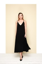 Toscana Dress - Black - Front
