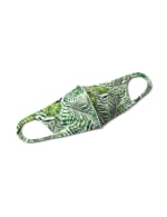 Palm Print Anti-Bacterial Fashion Face Mask - Green - Front