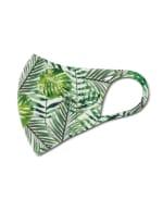 Palm Print Anti-Bacterial Fashion Face Mask - Green - Detail