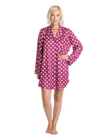 Caribbean Joe Polka Dot Sleep Shirt - Multi - Front
