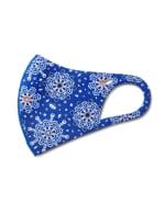 Jeweled Medallion Anti-Bacterial Fashion Face Mask - Royal Blue - Detail