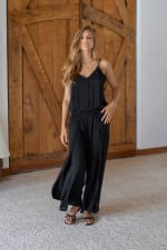Ayla Jumpsuit - Black - Front