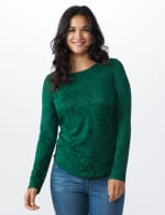 Jacquard Knit Top - Forest - Front
