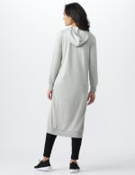 French Terry Duster Hoodie - Misses - Lt Heather Grey - Back