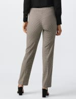 Pull On Novelty Jacquard Pant with Zipper Pockets - Black/white/brown - Back