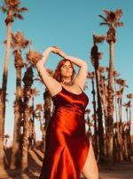 Curve Ruby Slip Dress - Plus - Ruby - Back
