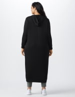French Terry Duster Hoodie - Plus - Black - Back