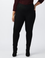 Plus- Westport Signature High Rise Pull On Jegging Jean - Black - Front