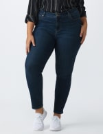 Plus- Westport Signature 5 Pocket Skinny Jean - Dark Wash - Front