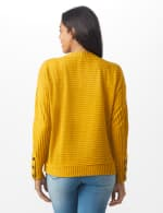 Ribbed Hacci Sweater Knit Top - Amber - Back