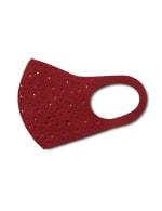 Rhinestone Fashion Face Mask - Merlot - Detail