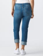 Westport Signature  5 Pocket Girlfriend Jean With Selvedge Cuff - Misses - Medium Wash - Back