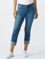Westport Signature  5 Pocket Girlfriend Jean With Selvedge Cuff - Misses - Medium Wash - Front