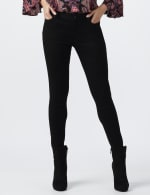Petite Westport Signature 5 Pocket Skinny Jean - Black - Front