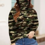 """Never Forget Your Mask"" Curve Fashion Top - Plus - Camo - Front"