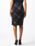 Printed Ponte Skirt - Multi/red - Back
