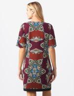 Border Sheath Dress - Misses - Sienna/Wine - Back