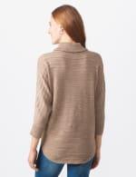 Westport Drape Neck Curved Hem Sweater - Misses - Biscotti - Back
