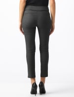 Pull On Pant with Pleather Pocket Detail - Black/white - Back