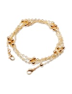 Gold Beaded Mask Chain - Gold - Front