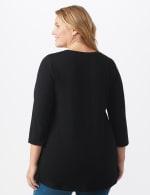 DB Sunday V Neck Stud Knit Top - Plus - Black - Back