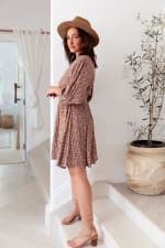 Pre-Order Curve Naomi Dress - Plus - Red-Feuille - Back