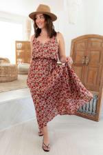 Curve Alizee Dress - Plus - Framboise - Front