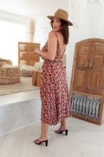 Curve Alizee Dress - Plus - Framboise - Back