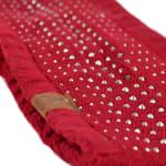 Studded Fleece Lined Winter Headband - Red - Back