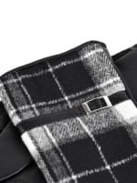 Plaid Faux Leather Touch Screen Gloves - Plaid - Detail