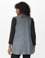 DB Sunday Faux Sherpa Vest - Misses - grey - Back