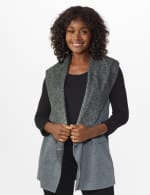 DB Sunday Faux Sherpa Vest - Misses - grey - Front