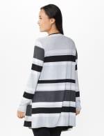 DB Sunday Hacci Sweater Knit Stripe Cardigan  - Misses - Multi - Back