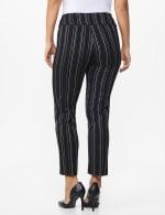 Pull on Stripe Millenium Ankle Pant - Misses - Black/Navy - Back
