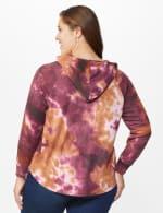 Tie Dye Thermal Knit Hoodie - Wine/Taffy - Back