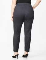 Plus Printed Ponte Pull On Legging with Interior Elastic Waistband - Houndstooth - Back