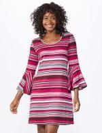 Stripe Soft Knit Dress - Misses - Multi - Front