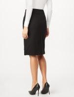 Faux Buckle Pencil Skirt - Black - Back