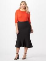 Flounce Skirt Plus - Black - Front