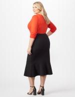 Flounce Skirt Plus - Black - Back