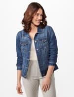 Long Sleeve Denim Jacket - Misses - Blue Wash - Front