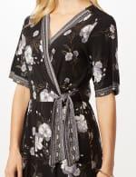 Floral Border Jumpsuit - Black/Grey - Detail