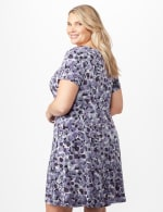 Bubble Dot Dress with Seam Detail Plus - Lilac - Back