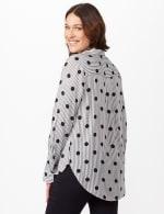Roll Tab Sleeve Shirt - Black/white - Back