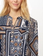 Patchwork Geometric Popover - Blue Multi - Detail